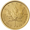Canadian Gold Maple Leaf (1/4 oz)